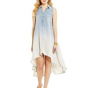 Chelsea & Theodore Ombre Denim High-Low Dress